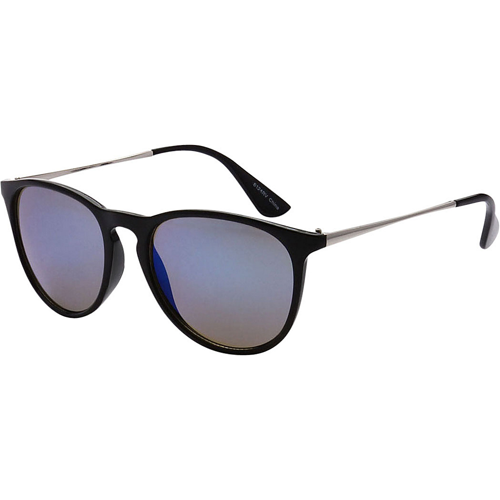 SW Global Street Fashion Horn Rimmed Metal Temple Sunglasses Black - SW Global Eyewear - Fashion Accessories, Eyewear