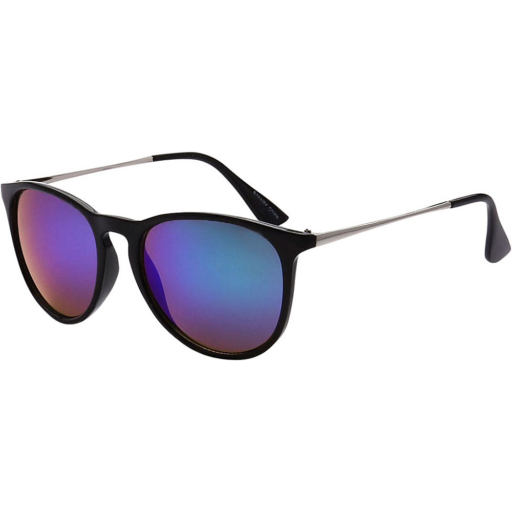 SW Global Street Fashion Horn Rimmed Metal Temple Sunglasses Purple - SW Global Eyewear - Fashion Accessories, Eyewear