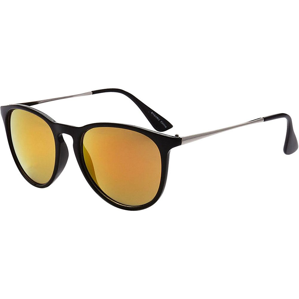 SW Global Street Fashion Horn Rimmed Metal Temple Sunglasses Orange - SW Global Eyewear - Fashion Accessories, Eyewear