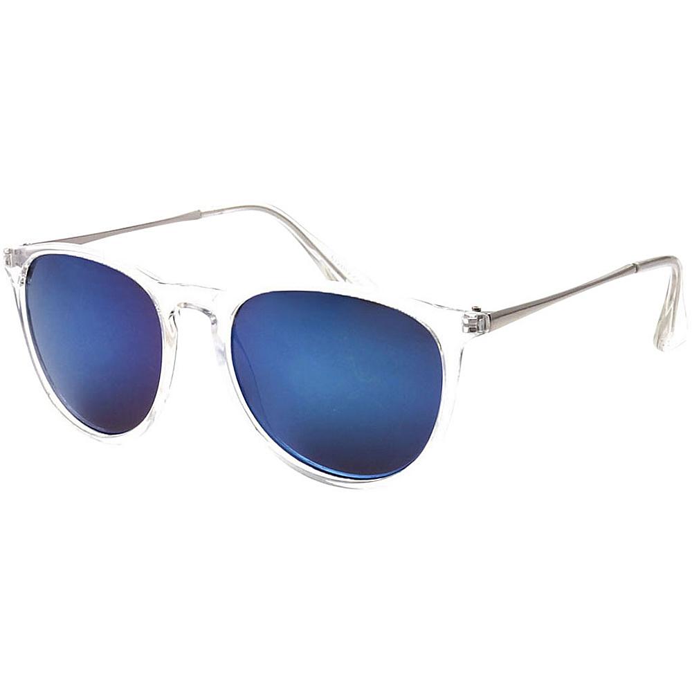 SW Global Street Fashion Horn Rimmed Metal Temple Sunglasses Blue - SW Global Eyewear - Fashion Accessories, Eyewear