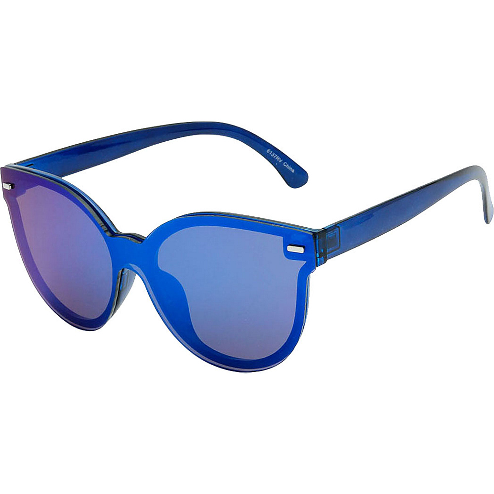 SW Global High Fashion Horn Rimmed Frameless Sunglasses Model:2 Blue - SW Global Eyewear - Fashion Accessories, Eyewear