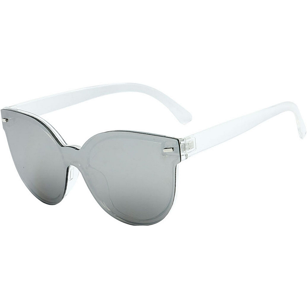 SW Global High Fashion Horn Rimmed Frameless Sunglasses Model:2 White - SW Global Eyewear - Fashion Accessories, Eyewear