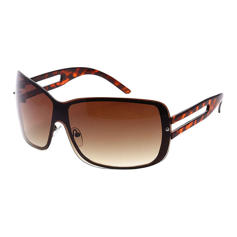 SW Global Womens Classic Elegance Oversized Fashion UV400 Sunglasses Leopard Amber - SW Global Eyewear - Fashion Accessories, Eyewear