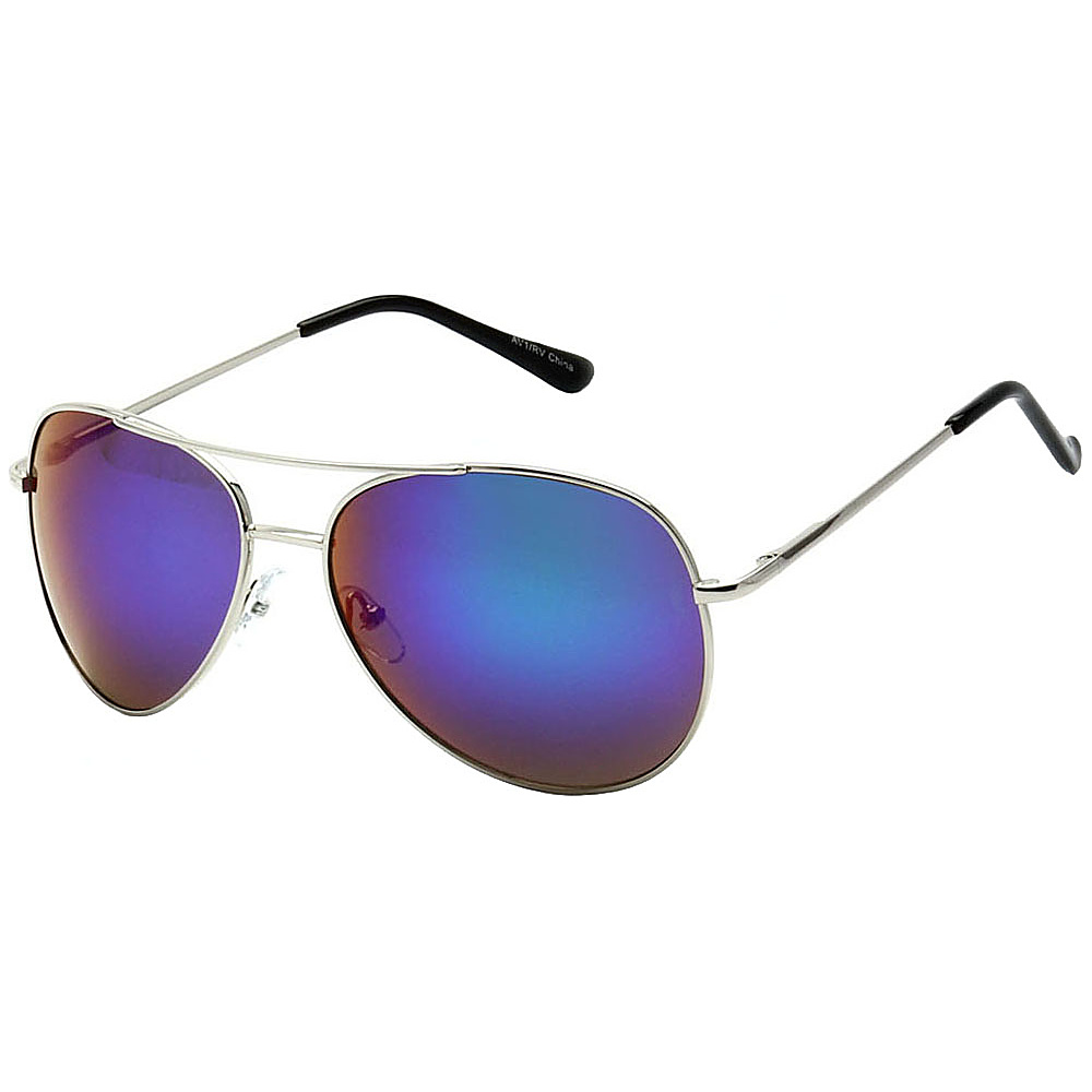 SW Global Classic Color Reflective Mirror Lens Aviator Sunglasses Blue - SW Global Eyewear - Fashion Accessories, Eyewear