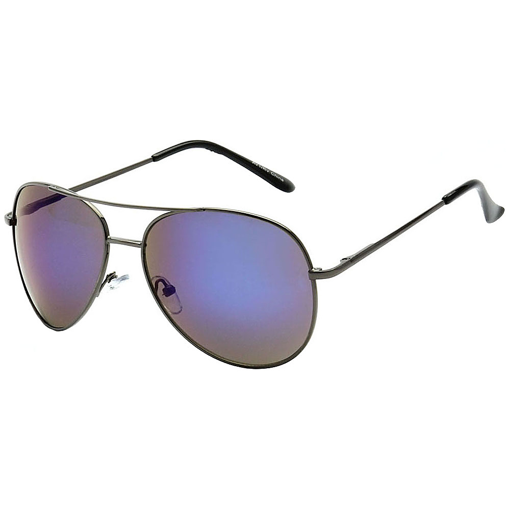 SW Global Classic Color Reflective Mirror Lens Aviator Sunglasses Purple - SW Global Eyewear - Fashion Accessories, Eyewear