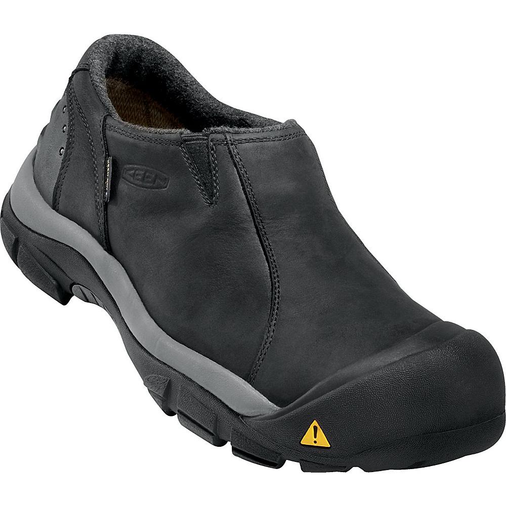 KEEN Mens Brixen Lo Waterproof Slip-On 8.5 - Black/Gargoyle - KEEN Mens Footwear - Apparel & Footwear, Men's Footwear