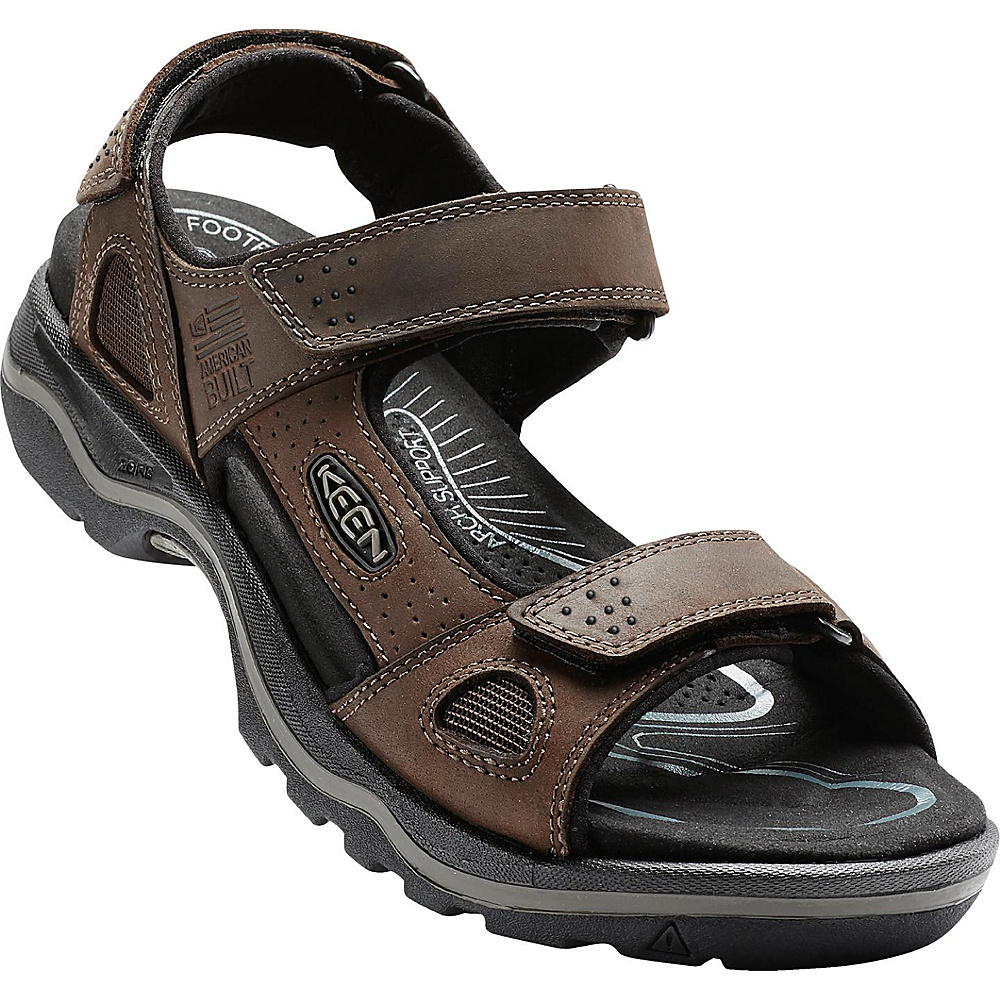 KEEN Mens Rialto 3 Point Sandal 9.5 - Dark Earth/Black - KEEN Mens Footwear - Apparel & Footwear, Men's Footwear