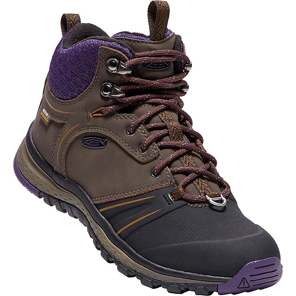 KEEN Womens Terradora Wintershell Boot 6.5 - Mulch/Plum Plumeria - KEEN Womens Footwear - Apparel & Footwear, Women's Footwear