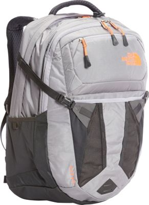 The North Face Women's Recon Laptop Backpack 15 inch- Sale Colors Dapple Grey Heather/Tropical Coral - The North Face Business & Laptop Backpacks