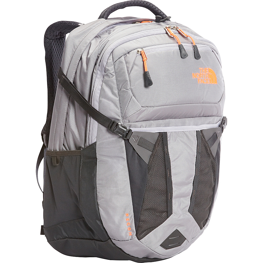 The North Face Womens Recon Laptop Backpack 15- Sale Colors Dapple Grey Heather/Tropical Coral - The North Face Business & Laptop Backpacks - Backpacks, Business & Laptop Backpacks