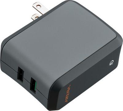 Ventev Wall Port RQ2300 Wall Charger Dual Standard USB Grey - Ventev Portable Batteries & Chargers