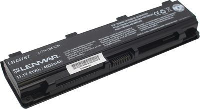 Lenmar Toshiba Satellite 800 Replacement Battery Black - Lenmar Portable Batteries & Chargers