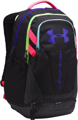 Under Armour Hustle 3.0 Laptop Backpack Black/Black/Constellation Purple - Under Armour Laptop Backpacks