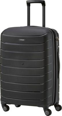 Titan Bags Limit Unbreakable 27 inch Expandable Hardside Checked Spinner Luggage Black - Titan Bags Large Rolling Luggage