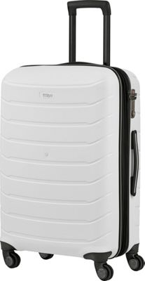 Titan Bags Limit Unbreakable 27 inch Expandable Hardside Checked Spinner Luggage White - Titan Bags Large Rolling Luggage