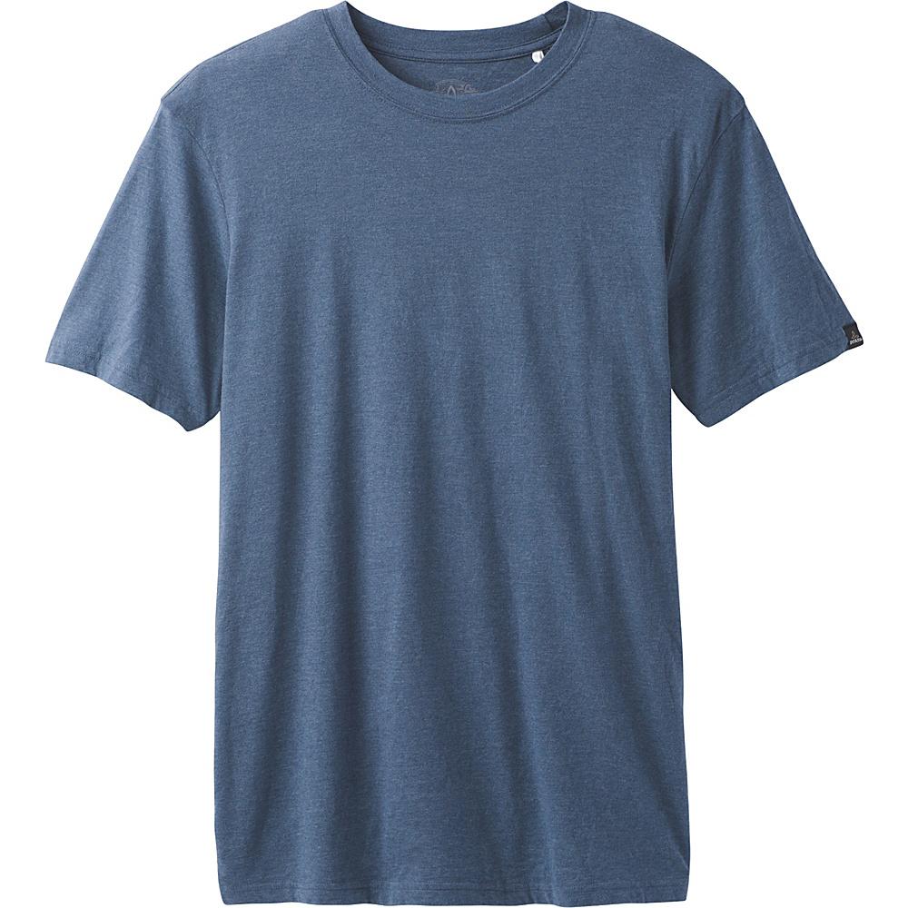 PrAna PrAna Crew Shirt M - Denim Heather - PrAna Mens Apparel - Apparel & Footwear, Men's Apparel