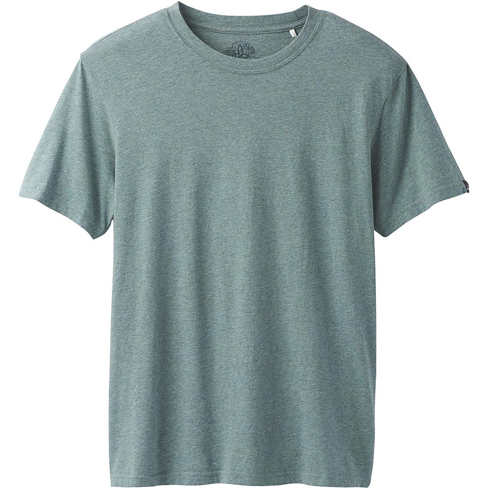 PrAna PrAna Crew Shirt M - Starling Green Heather - PrAna Mens Apparel - Apparel & Footwear, Men's Apparel