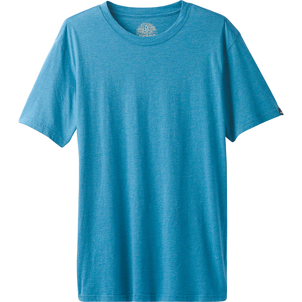 PrAna PrAna Crew Shirt S - River Rock Blue - PrAna Mens Apparel - Apparel & Footwear, Men's Apparel