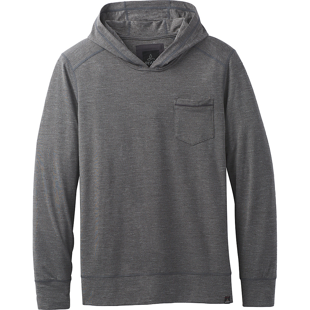 PrAna Pacer Long Sleeve Pullover Hoodie L - Charcoal - PrAna Mens Apparel - Apparel & Footwear, Men's Apparel