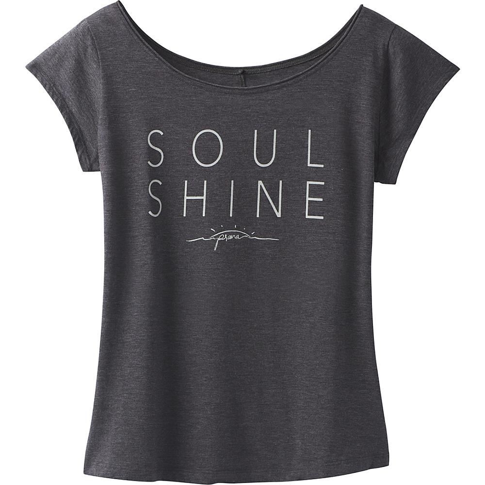 PrAna Longline Tee S - Charcoal Heather - PrAna Womens Apparel - Apparel & Footwear, Women's Apparel