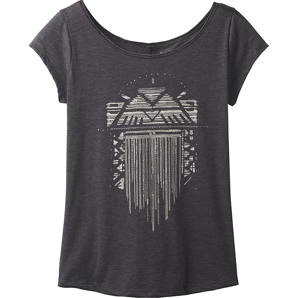 PrAna Longline Tee XS - Tribal Sunrise Charcoal - PrAna Womens Apparel - Apparel & Footwear, Women's Apparel