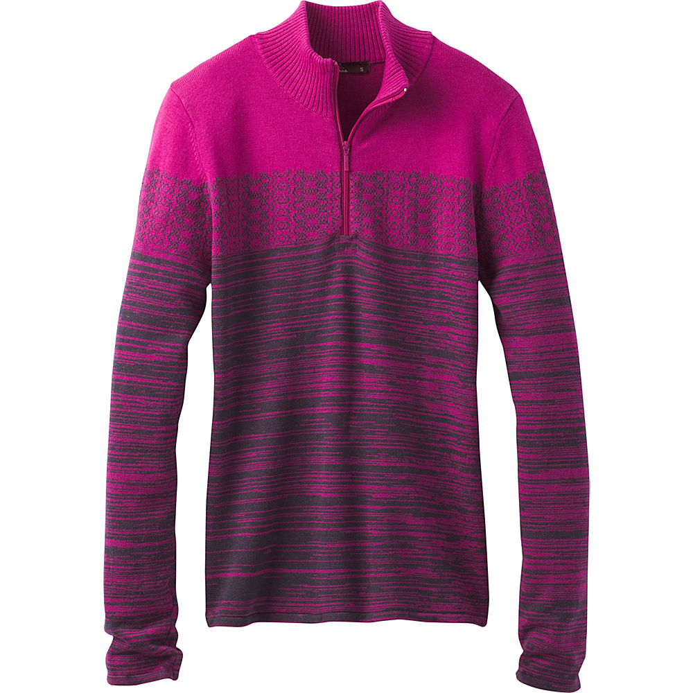 PrAna Rosalia Sweater XL - Deep Fuchsia - PrAna Womens Apparel - Apparel & Footwear, Women's Apparel