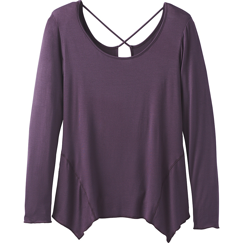 PrAna Sasha Top L - Dark Plum - PrAna Womens Apparel - Apparel & Footwear, Women's Apparel