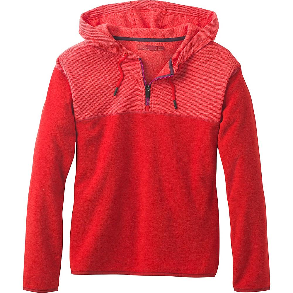 PrAna Liora Fleece S - Fiery Red - PrAna Womens Apparel - Apparel & Footwear, Women's Apparel