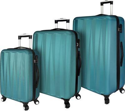 Elite Luggage Verdugo 3 Piece Hardside Spinner Luggage Set Teal - Elite Luggage Luggage Sets