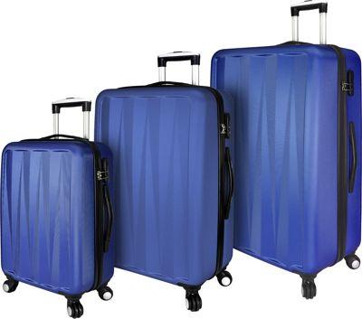 Elite Luggage Verdugo 3 Piece Hardside Spinner Luggage Set Blue - Elite Luggage Luggage Sets
