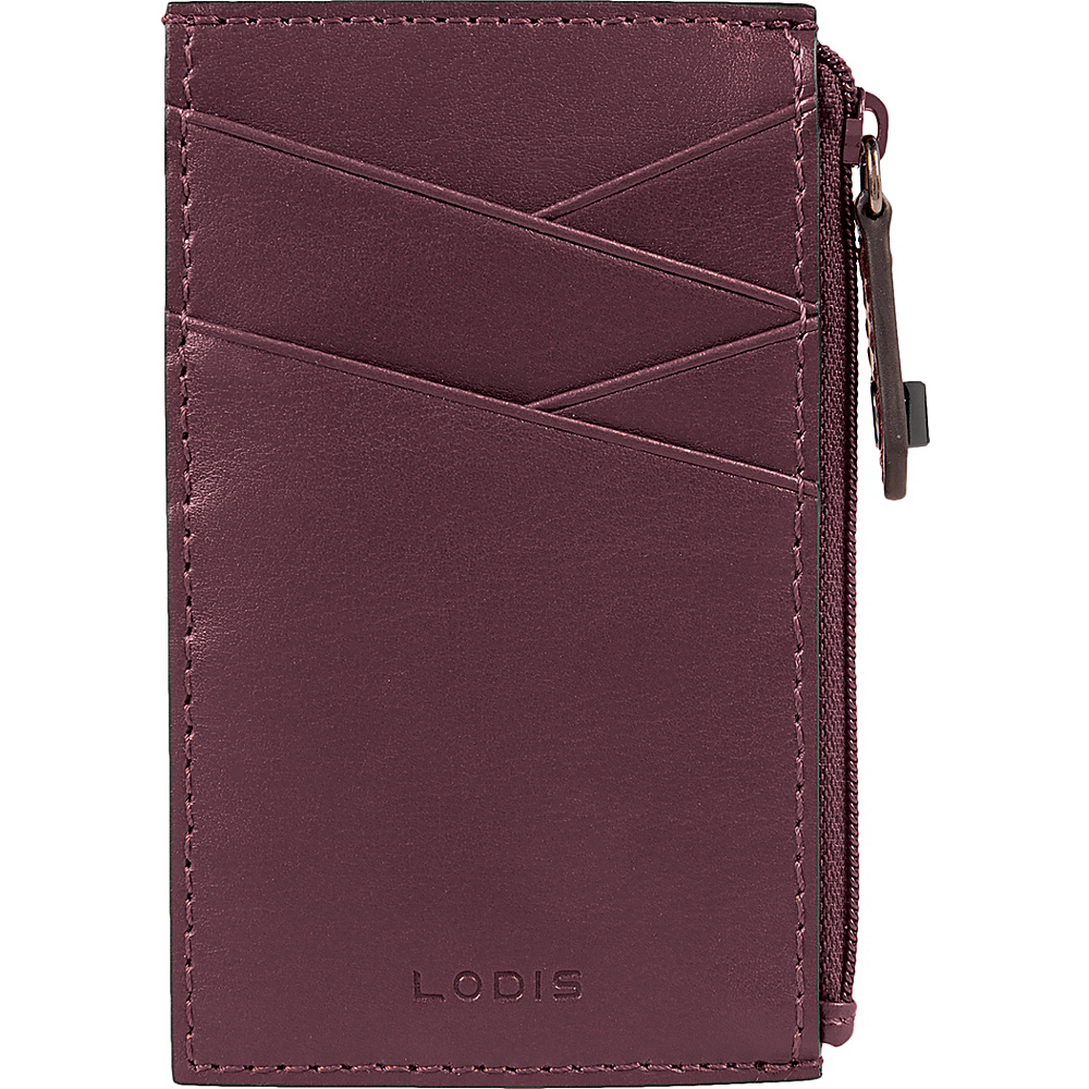 Lodis Silicon Valley RFID Ina Card Case Chianti/Taupe - Lodis Womens Wallets - Women's SLG, Women's Wallets