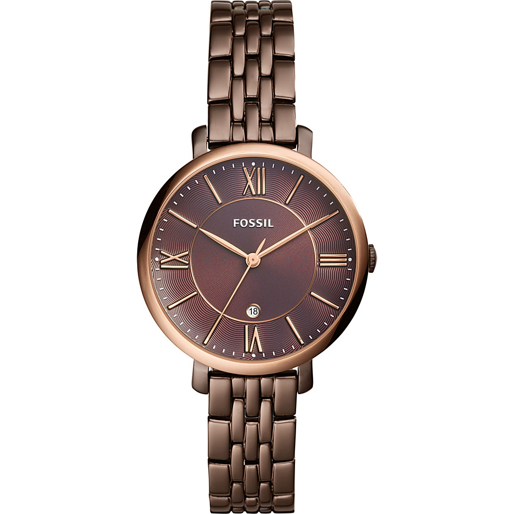 Fossil Jacqueline Three-Hand Date Brown Stainless Steel Watch Brown - Fossil Watches - Fashion Accessories, Watches