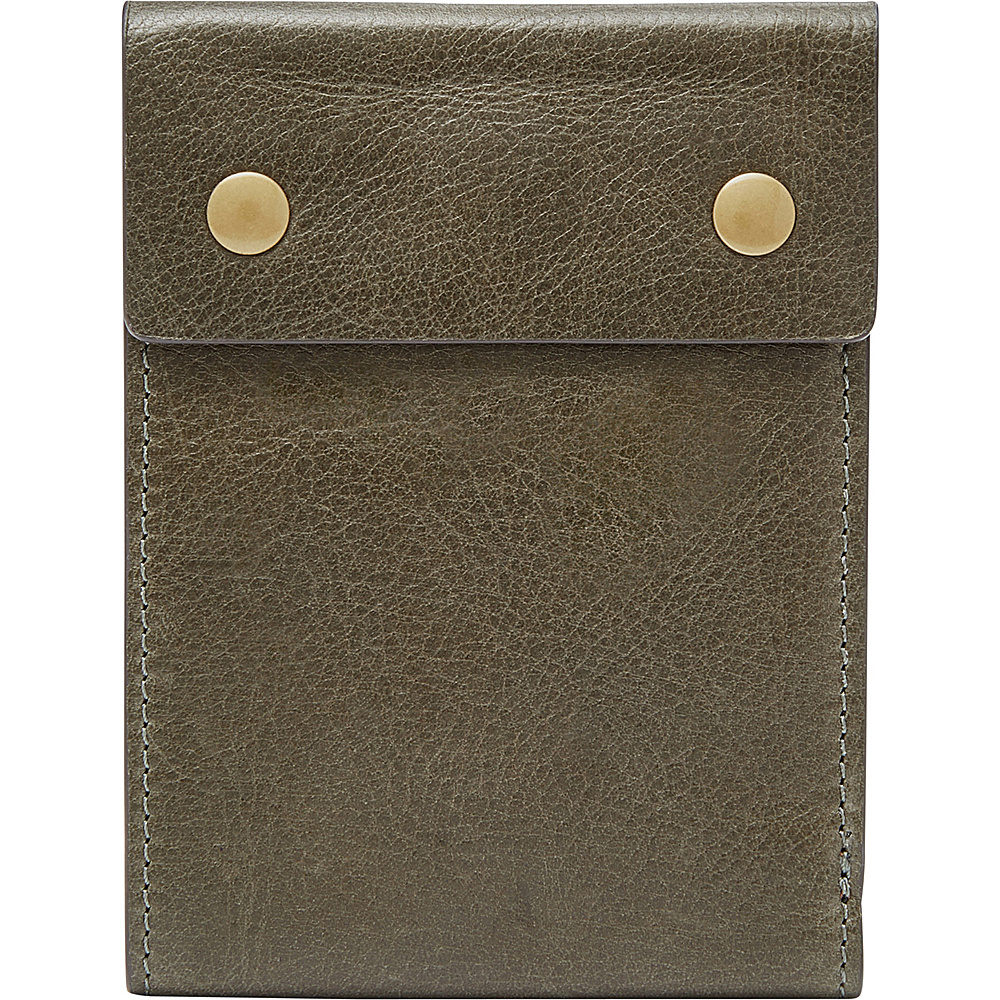 Fossil Ethan RFID Bifold Green - Fossil Mens Wallets - Work Bags & Briefcases, Men's Wallets