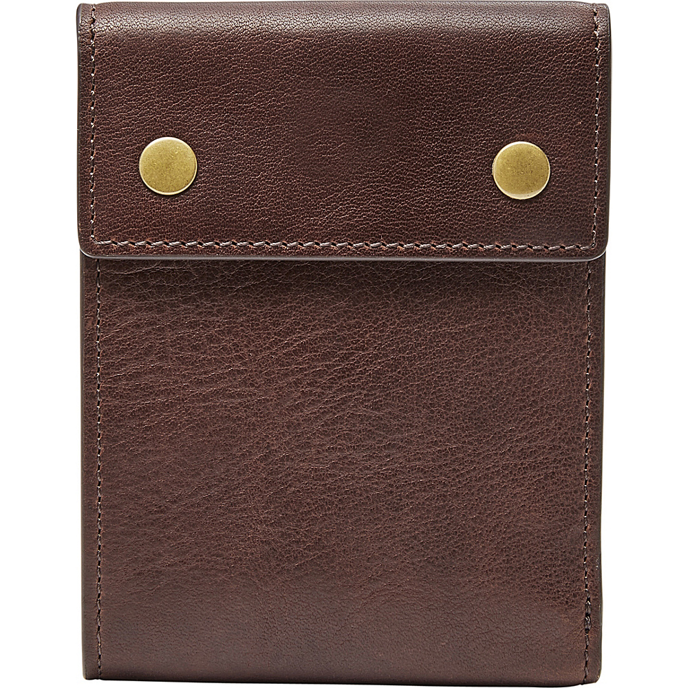 Fossil Ethan RFID Bifold Brown - Fossil Mens Wallets - Work Bags & Briefcases, Men's Wallets