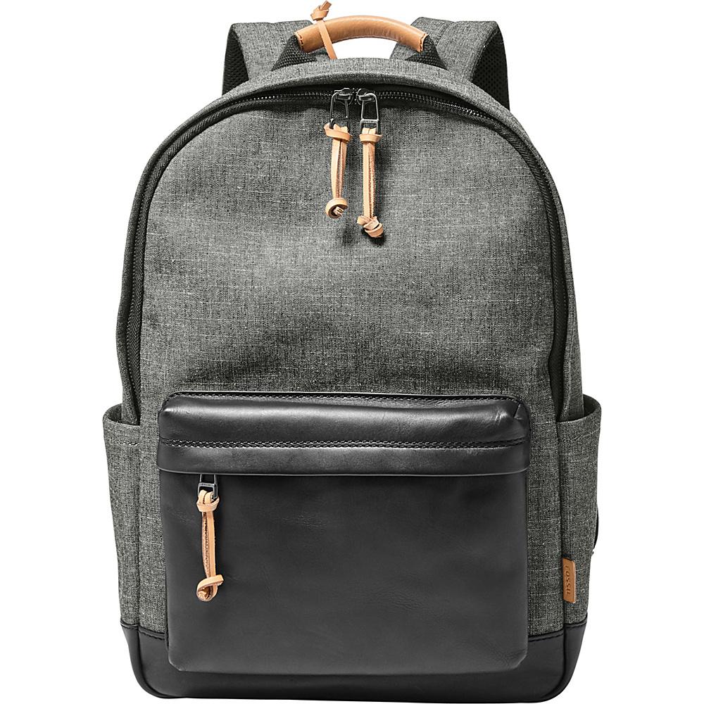Fossil Defender Laptop Backpack Grey - Fossil Laptop Backpacks - Backpacks, Laptop Backpacks