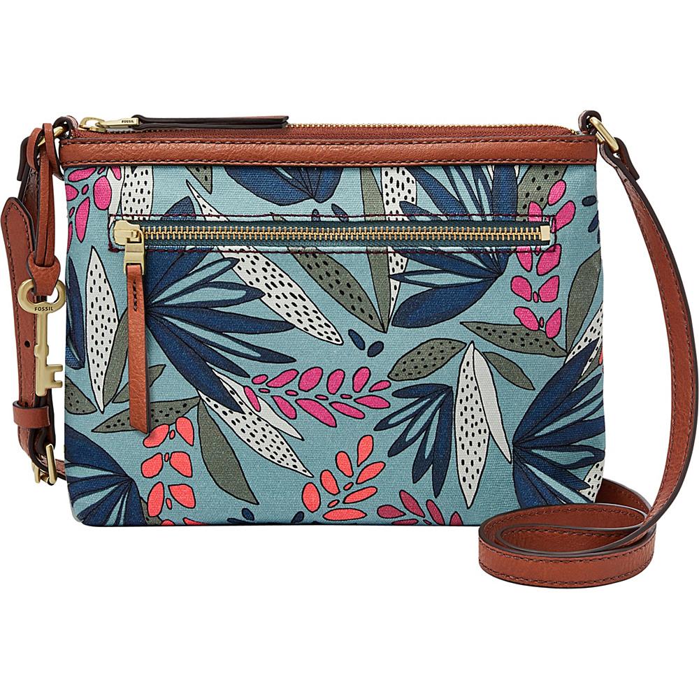 Fossil Fiona EW Crossbody Blue Multi - Fossil Fabric Handbags - Handbags, Fabric Handbags