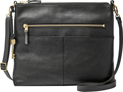 Fossil Fiona Large Crossbody Black - Fossil Leather Handbags