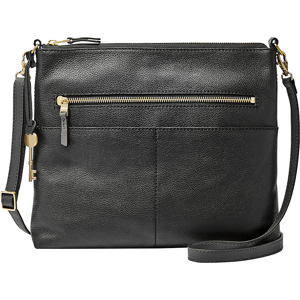 Fossil Fiona Large Crossbody Black - Fossil Leather Handbags - Handbags, Leather Handbags