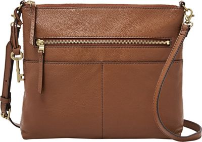 Fossil Fiona Large Crossbody Medium Brown - Fossil Leather Handbags