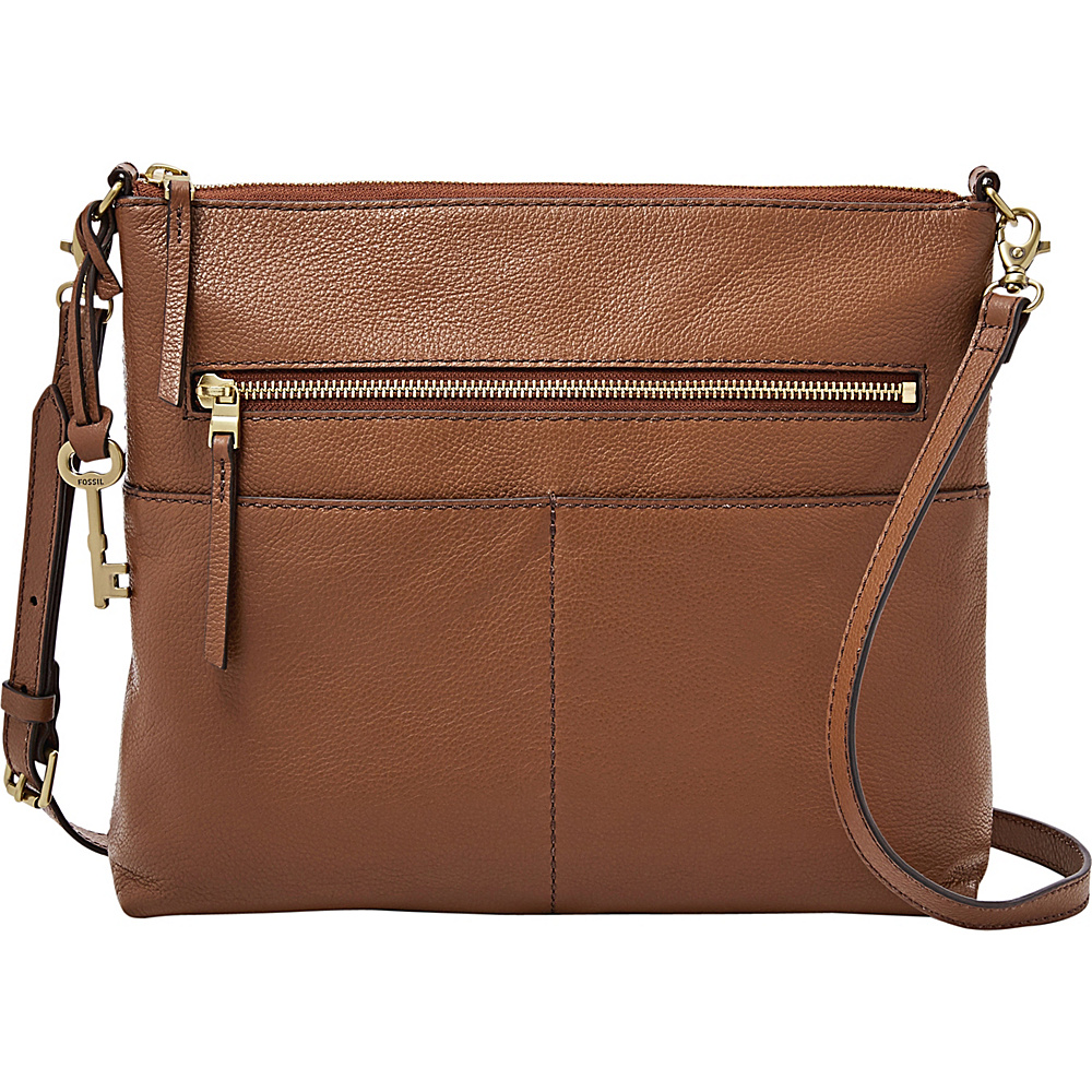 Fossil Fiona Large Crossbody Medium Brown - Fossil Leather Handbags - Handbags, Leather Handbags