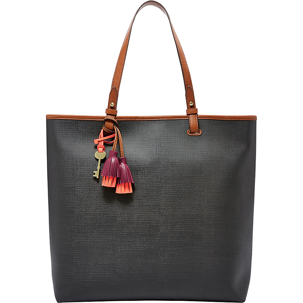 Fossil Rachel NS Tote Black - Fossil Manmade Handbags - Handbags, Manmade Handbags