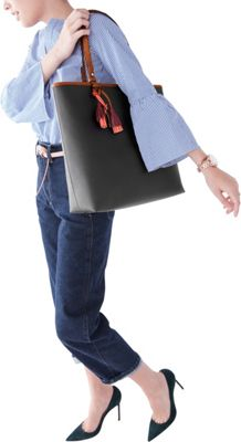 Fossil Rachel NS Tote Black - Fossil Manmade Handbags