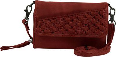 Day & Mood Angel Mobile Crossbody Rusty Red - Day & Mood Leather Handbags