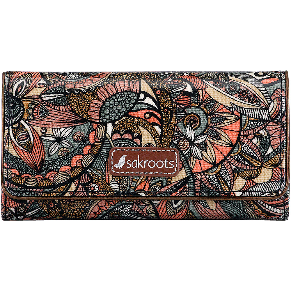 Sakroots Megan Snap RFID Trifold Wallet Sienna Spirit Desert - Sakroots Womens Wallets - Women's SLG, Women's Wallets