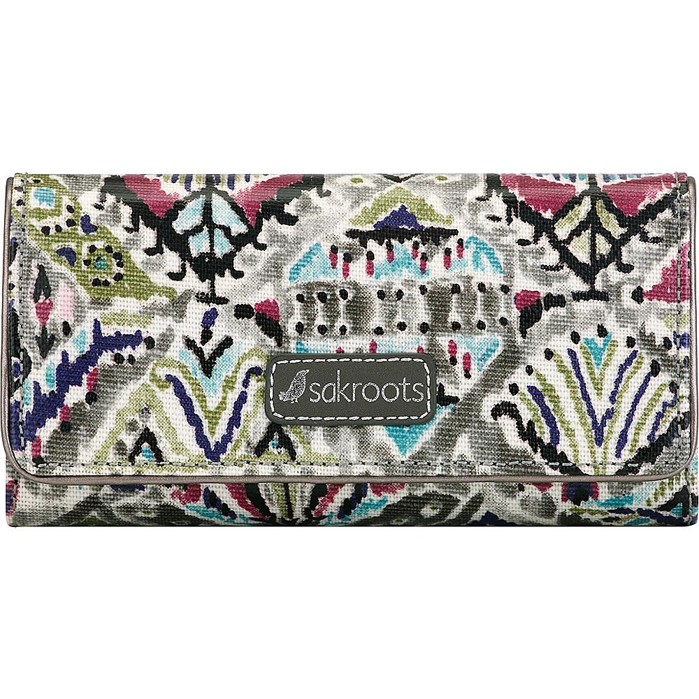 Sakroots Megan Snap RFID Trifold Wallet Slate Brave Beauti - Sakroots Womens Wallets - Women's SLG, Women's Wallets