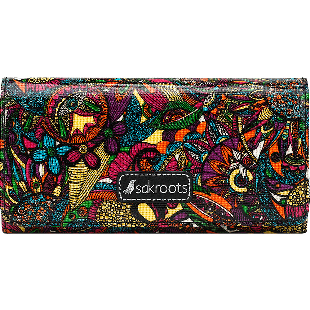 Sakroots Megan Snap RFID Trifold Wallet Rainbow Spirit Desert - Sakroots Womens Wallets - Women's SLG, Women's Wallets