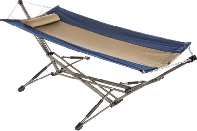 Kamp Rite Kwik Set Hammock Blue/Khaki - Kamp Rite Outdoor Accessories