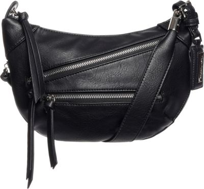 Hush Puppies Bett Crossbody Black - Hush Puppies Leather Handbags