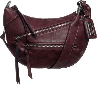 Hush Puppies Bett Crossbody Bordeaux - Hush Puppies Leather Handbags