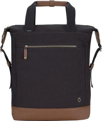 Vessel Refined Tote Backpack Black - Vessel Laptop Backpacks